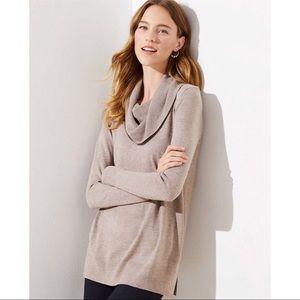 Loft | Cowl Neck Oversized Tunic Sweater Size M